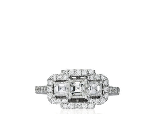 1.47ct Asscher Cut Diamond Ring