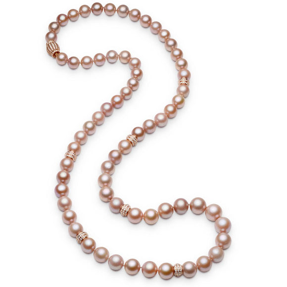 11.50-14.50mm Pink Pearl Necklace