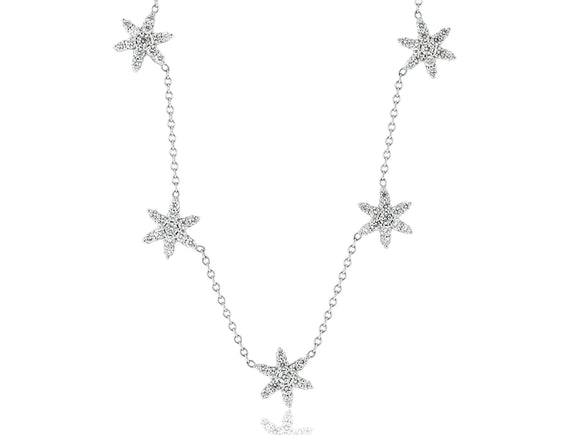 1.75 Carat Diamond Snowflake Necklace
