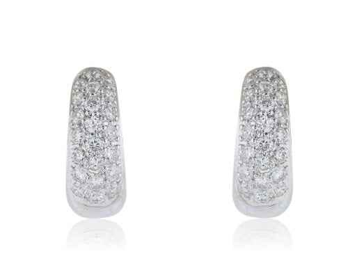 .54 Diamond Huggie Earrings