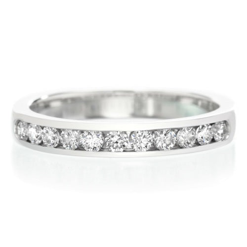 half way channel set diamond 0.60 cts wedding band