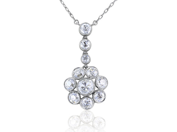5ct Old European Cut Diamond Pendant