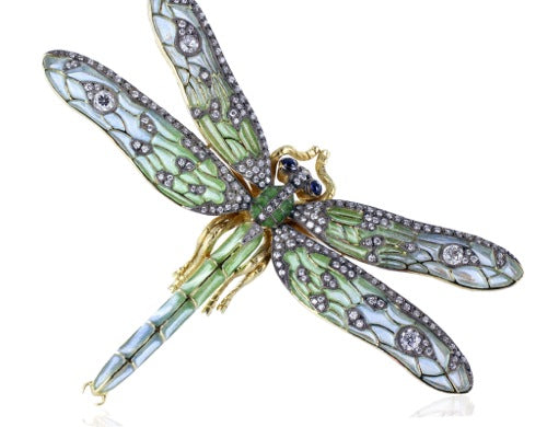 Plique-A-Jour Dragonfly Pin