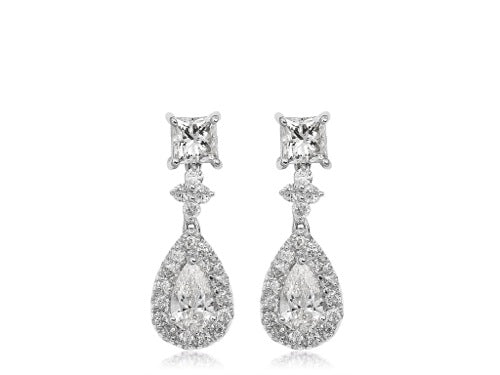 2.53ct Pear Shape Diamond Drop Earrings