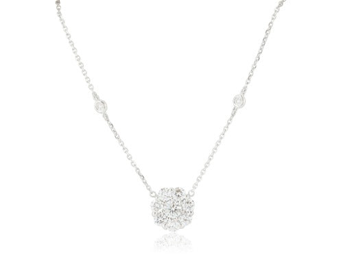 1 Carat Diamond Flower Pendant