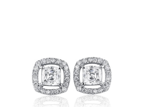 .67ct Cushion Cut Diamond Stud Earrings