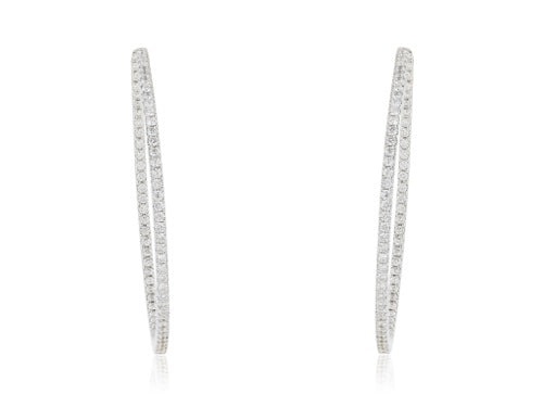2.29 Carat Diamond Inside Out Hoop Earrings