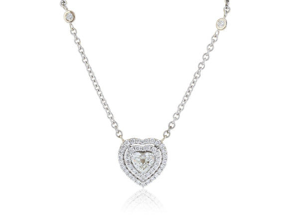 1.23ct Heart Shaped Diamond Pendant