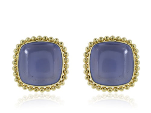 36ct Chalcedony Earrings