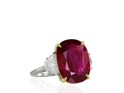 10.24ct Thai Ruby & Diamond HM@1.75 Ring