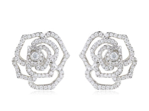 18 kt 2.34 ct Flower Diamond Earring