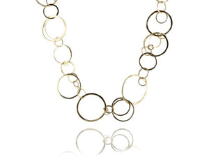 Estate 14kt Contemporary Style Link Chain Necklace