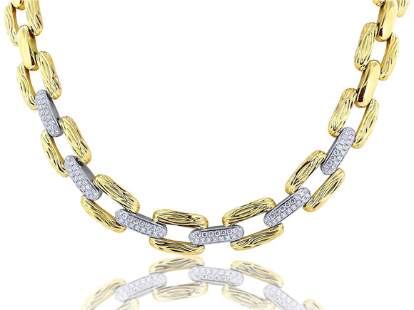 Diamond Flexible Link Necklace