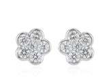 1 Carat Diamond Flower Studs