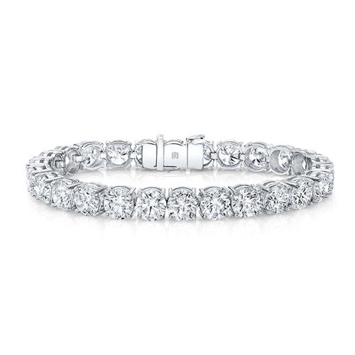 19.80ct Round Brilliant GIA Diamond Tennis Bracelet
