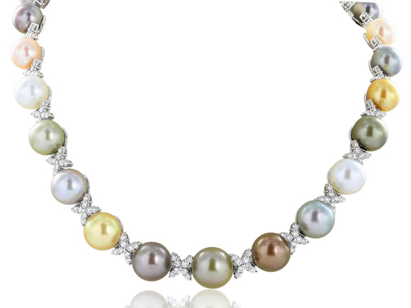 10-13mm  Multi Colored Pearl Necklace