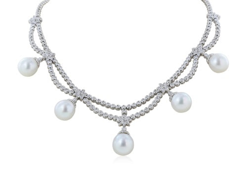 Diamond and South Sea Pearl Necklace