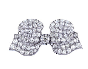 Edwardian Diamond Bow Pin