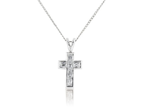 .55 Carat Diamond Cross Pendant