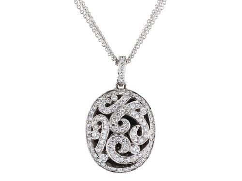1.37ctw Diamond Swirl Locket Pendant