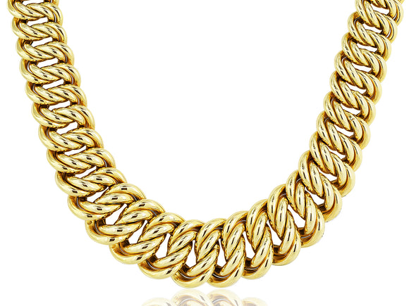 Yellow Gold Curb Link Estate Necklace