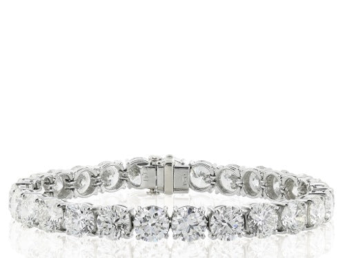 14 kt wg diamond 36@10.00 ct tw tennis bracelet