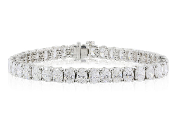 17.63ctw Oval Diamond Bracelet