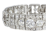 22ct Old European Cut Diamond Art Deco Bracelet