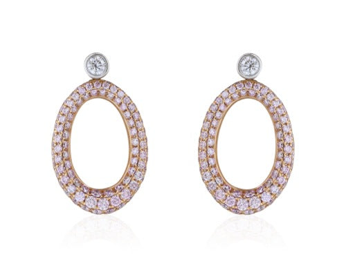 2.00 Carat Pink Diamond Earrings