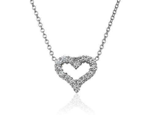 .90ct Diamond Heart Shaped Pendant