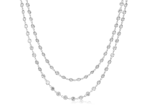 14.75ct Diamond by the Yard Necklace