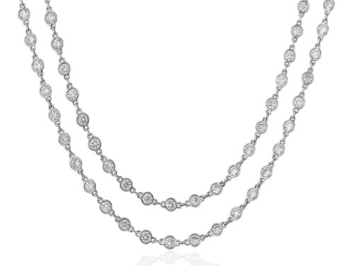 35.85 Carat Diamond By-The-Yard Style Necklace
