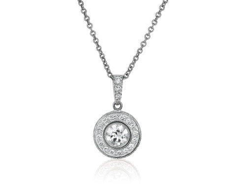 1.67ct Round Brilliant cut Diamond Circular Pendant