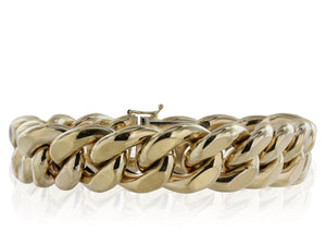 18k Yellow Gold Curb Link Bracelet
