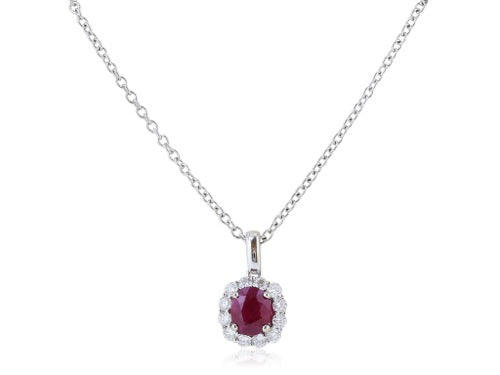 1.13ct Ruby and Diamond Pendant