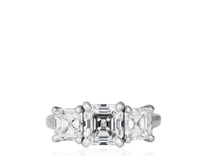 1.64 Carat F/VS1 GIA Certified Asscher Cut Diamond Ring