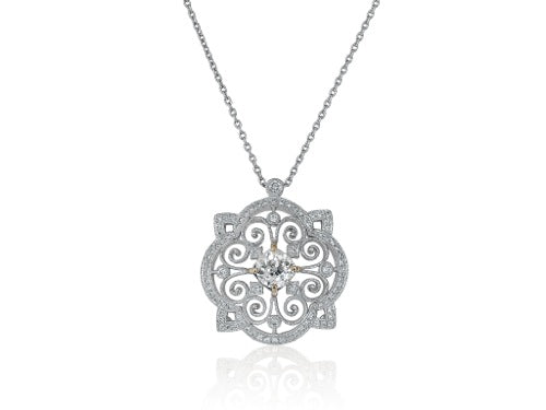 1.09ct Diamond Open Work Pendant