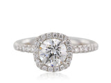 18KT WG 1.13CT GIA G SI2 Diamond Halo Ring
