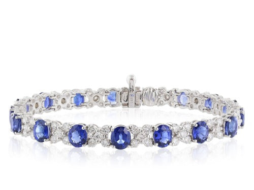 5.60ct Sapphire and Diamond Bracelet