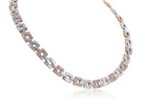 12.81 Carat Argyle Pink Diamond Panther Link Necklace