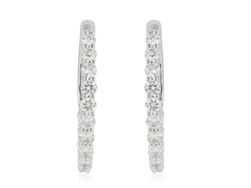 1 Carat F-G/SI1-SI2 Diamond Hoops