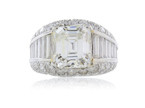 5.02 ct. Emerald Cut Diamond Ring