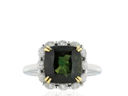 6.73ct Alexandrite Chrysoberl & Diamond Ring