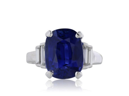 7.75ct. Ceylon Sapphire and Diamond Ring