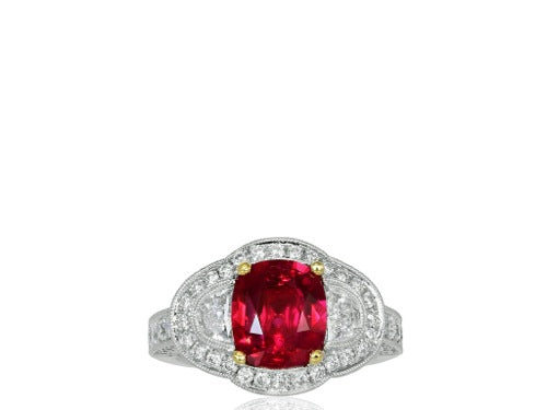 2.55ct Ruby & Diamond Ring