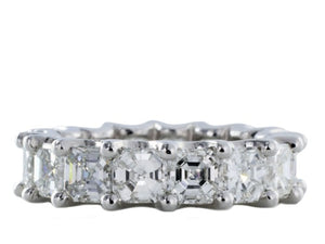 6.58ct Ascher Cut Diamond Eternity Band