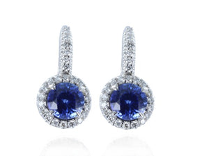 2.76ct Sapphire & Diamond Earrings