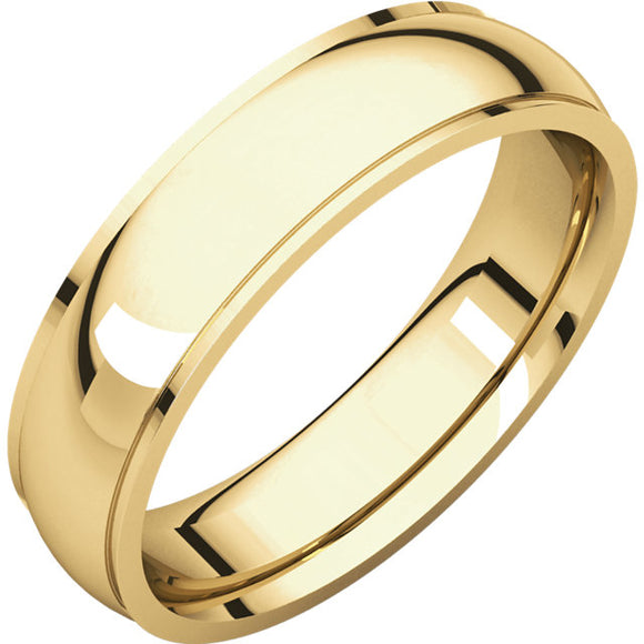 14k 4mm Gents Wedding Band