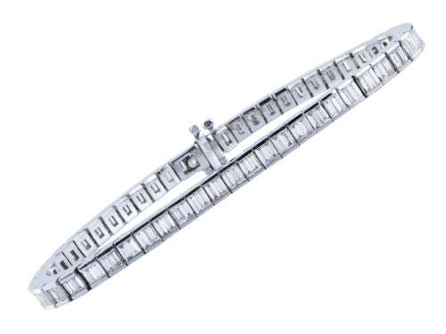 10.50ctw Baguette Diamond Channel Bracelet