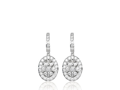 1.22 Carat Round Brilliant Cut Drop Earrings
